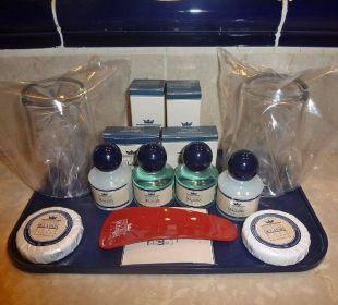 Produkte im Badezimmer Hotel De La Paix