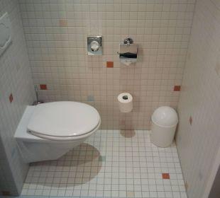 WC des Badezimmers Hotel centrovital
