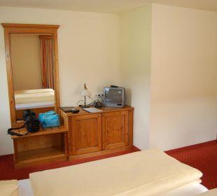 TV-Ecke im Zimmer Hotel Loipenstub'n