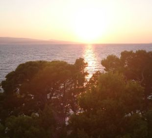 Sonnenuntergang auf dem Balkon Bluesun Hotel Soline