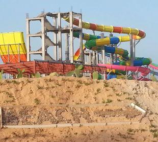 Die Baustelle auf dem Weg zum Strand... SunConnect Djerba Aqua Resort