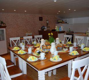 Frühstücksbereich Bed & Breakfast Storchennest
