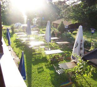 Garten für die Gäste Berggasthaus Kraxenberger