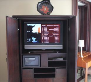 TV im Schlafzimmer Hotel Grand Hyatt Shanghai