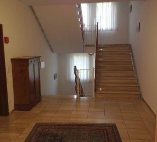 Aufgand zu den Zimmern im Seitentrakt Hotel Schloss Döttingen