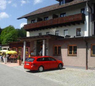 Hoteleingang  Berggasthof Hotel Fritz