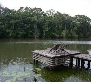 Badesteg am Fluß El Hotelito Perdido