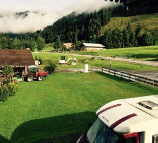 Blick aus dem Fester Gasthof Schwabenhof