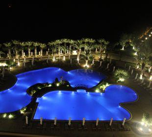 Pool in der Nacht Sani Beach