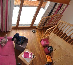 Blick von der Galerie Traube Braz Alpen.Spa.Golf.Hotel