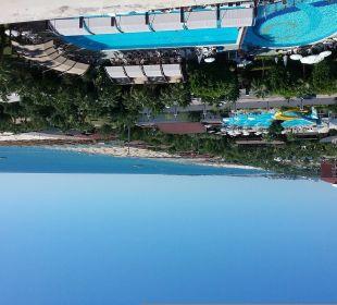Wunderschöner Ausblick vom Balkon in der 4.Etage Sunis Hotel Evren Beach Resort & Spa
