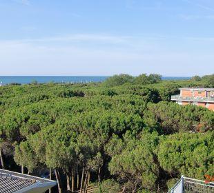 Blick vom Dach zum Strand Hotel Eraclea Palace