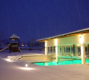 Freibad auch im Winter beheizt Hotel Liebes Caroline