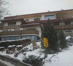 Blick von der Zufahrt zum Hotel Hotel Bergkranz