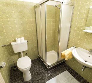 Badezimmer der Zimmerkategorie Gartenblick I BergPension Lausegger