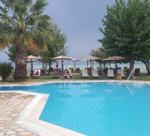Pool und Liegen & Sonnenschirme Hotel Robolla Beach