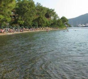 Widok na plażę Sensimar Marmaris Imperial