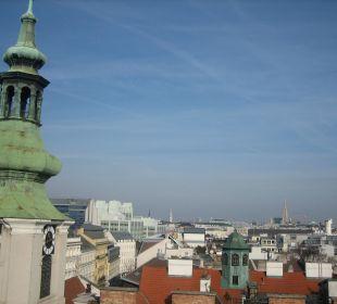 Balkon mit Ausblick über Wien