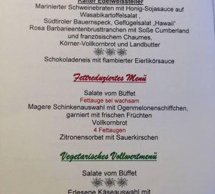 Menue-Karte Beispiel... Kneipp- und WellVitalhotel Edelweiss