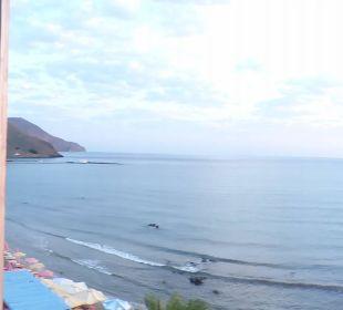 Panoramabild von der Dachterrasse aus  mit Panoram Hotel Corissia Princess