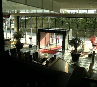 Blick auf den Eingang