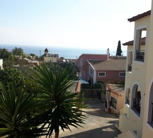 Blick von der Terrasse Hotel Corfu Pelagos