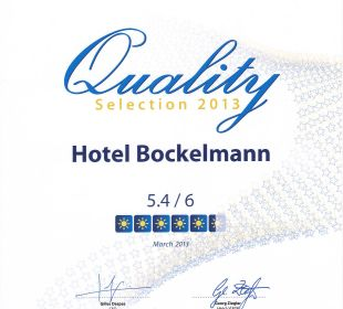 HolidayCheck Quality Selection 2013 Hotel Bockelmann
