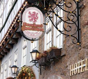 Detail Außenansicht Hotel Brauhaus zum Löwen