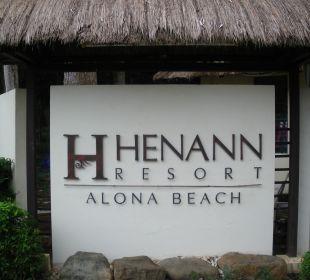 Eingang Henann Resort