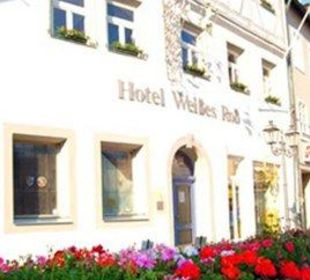 Unser Haus vom Marktplatz aus Hotel Weißes Roß