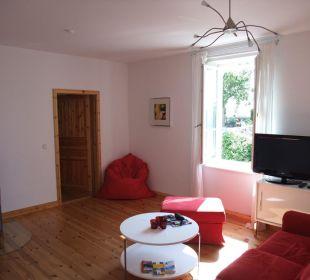 Appartement Red - Wohnzimmer Seaside Appartements Rügen - Haus Altstadt