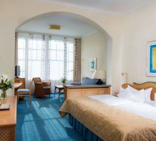 Suite Schlafraum Hotel Travel Charme Kurhaus Sellin