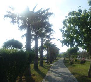 Vor dem Strand Hotel Side Crown Palace