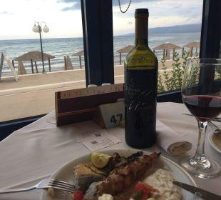 Aussicht beim Abendessen... Hotel Corissia Beach