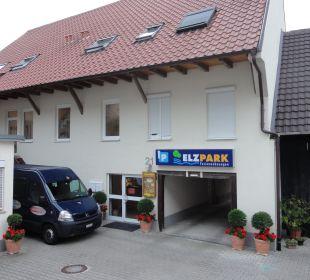 Eingangsbereich Ferienanlage Elzpark
