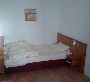 Schlafbereich des Einzelzimmers NewLivingHome Appartements Hamburg