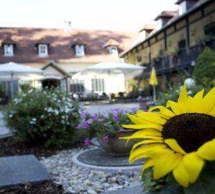 Gemütlicher Innenhof Wohlfühlhotel Liebnitzmühle