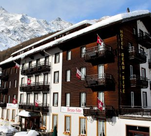 Sunstar Hotel Beau Site im Winter Sunstar Boutique Hotel Beau-Site Saas-Fee