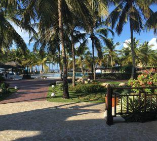 Aus der Rezeption Richtung Pool Dreams La Romana Resort & Spa