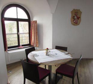 Frühstücksraum Hotel Schatz.Kammer Burg Kreuzen