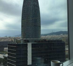 Vom Bett aus Hotel Novotel Barcelona City