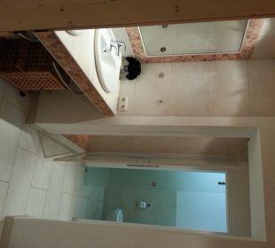 """Ausschnitt des neuen Badezimmers des DZ """"Süßklee"""" Naturgesund Haus Viktoria"""