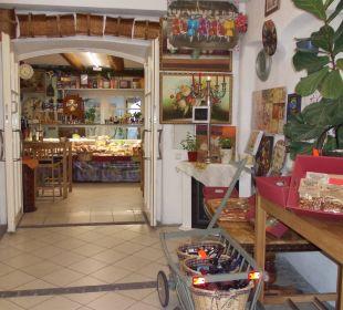 Italienische Delikatessen unterhalb der Wohnungen