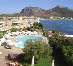 Blick auf Golfo Aranci Hotel Gabbiano Azzurro