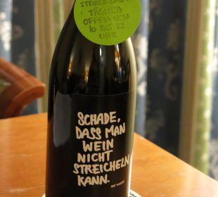 LEERE (!!!) Weinflasche Hotel Wiesler