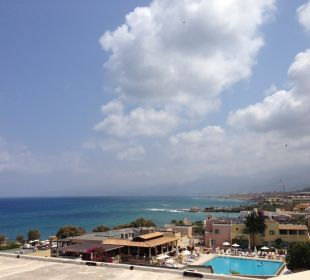 View from roof terrace Hotel Golden Beach