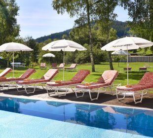 Pool im Sommer Das Hotel Eden