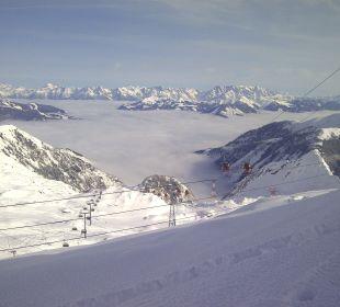 Blick vom Alpincenter Kitzsteinhorn Pension St. Georg