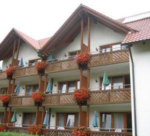 Zijkant hotel met kamers Hotel Zur Linde