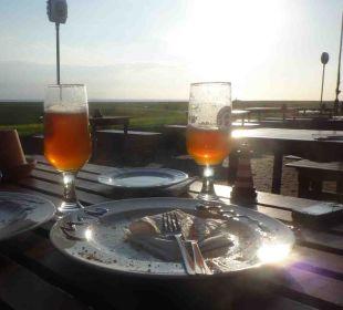 Abendessen auf der Terrasse Hilligenley